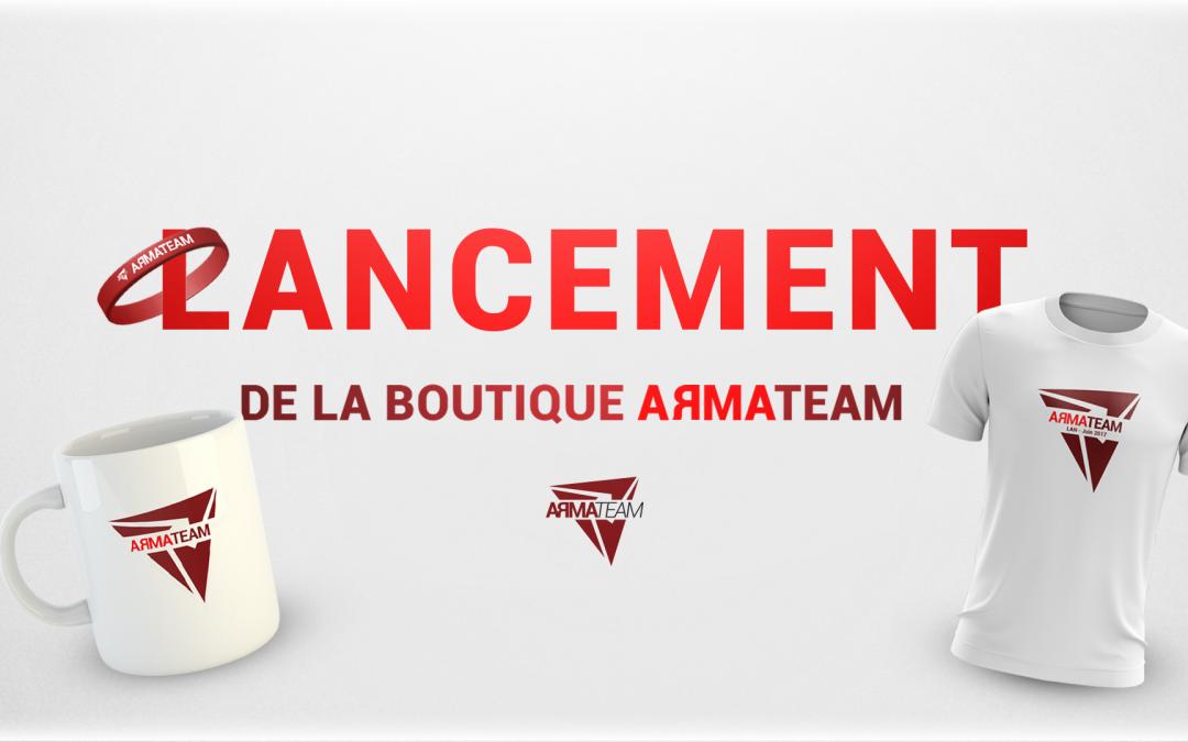 Nouveauté : la boutique en ligne de l'ArmaTeam