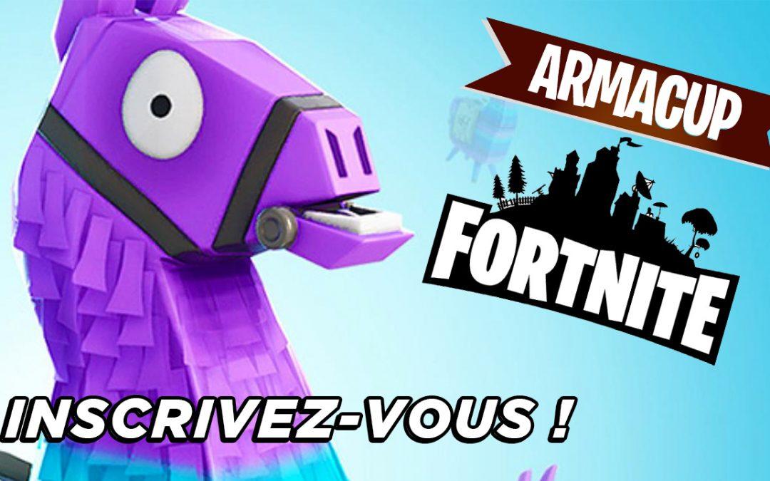 Inscrivez-vous à la 2ème soirée de l'Arma Cup Fortnite !
