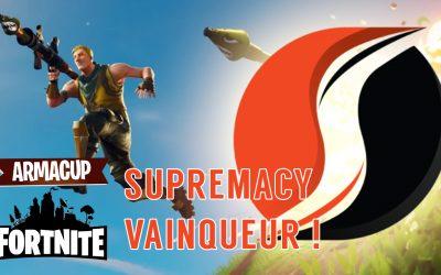 Supremacy, vainqueur de la seconde soirée de l'Arma Cup Fortnite !