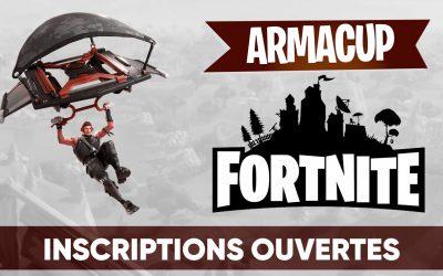 Inscrivez-vous pour la 6ème soirée de l'Arma Cup Fortnite !