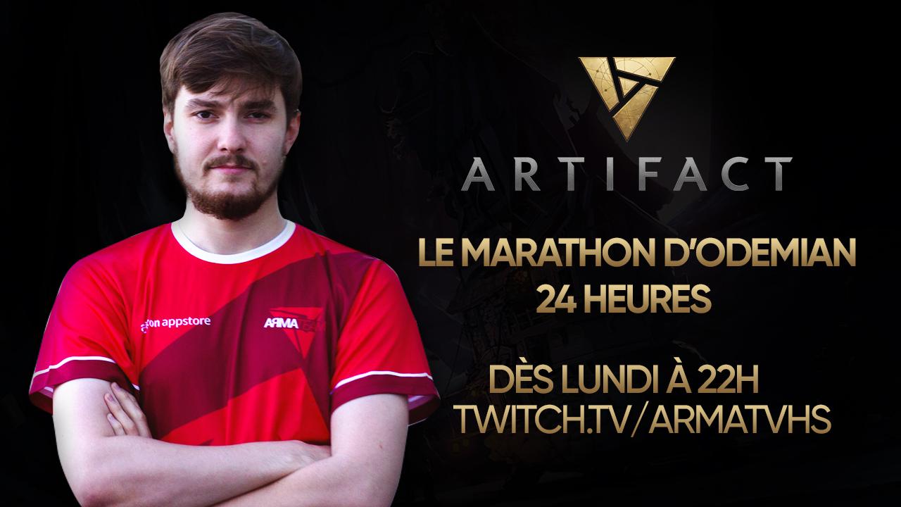 Marathon de 24heures sur Artifact avec Odemian dès 22h !