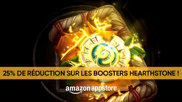 Profitez de 25% de réduction sur vos boosters Hearthstone grâce aux Amazon Coins !