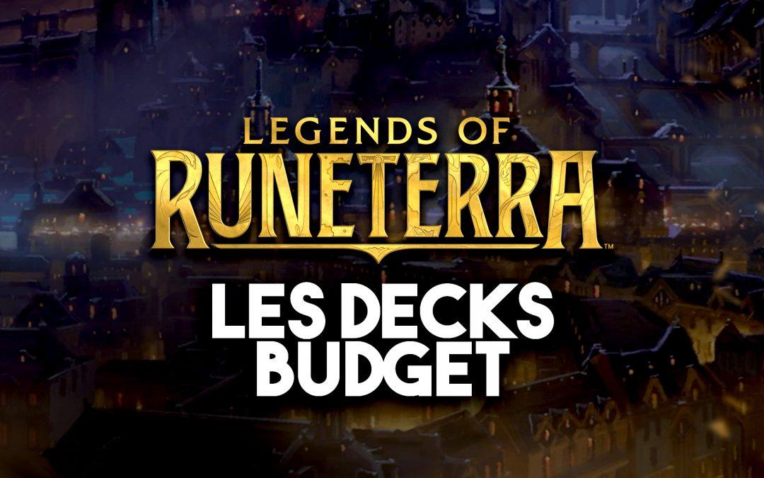 6 decks budgets pour bien débuter sur Legends of Runeterra
