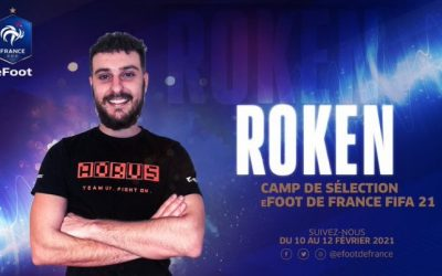 Roken pré-sélectionné en équipe de France eFoot !